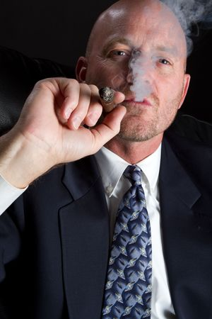 Businessman Smoking Stock Photo - 6857711