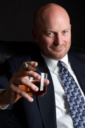 Cigar Man Drinking Stock Photo - 6857720