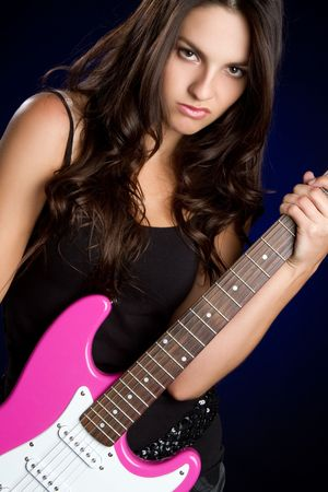 rockstar: Teen Girl Playing Guitar