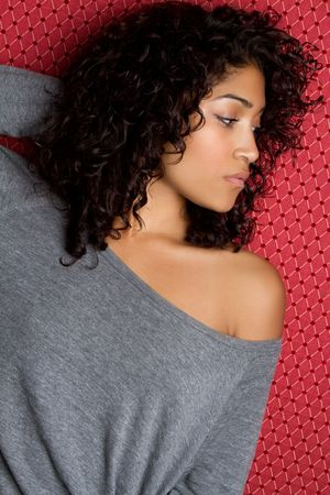 black sweater: Sexy African American Woman LANG_EVOIMAGES