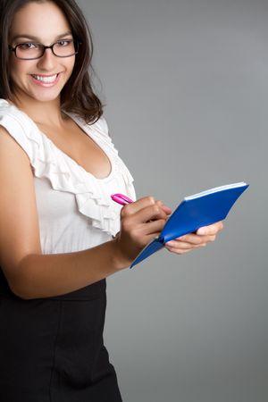 chequera: Comprobaci�n de la escritura de mujer