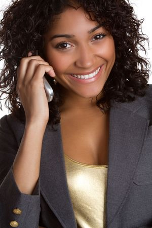Black Businesswoman on Phone Stock Photo - 6875120