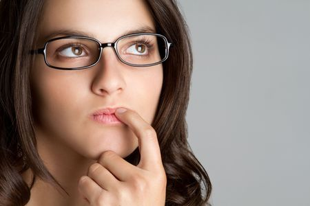 frau denken: Frau Thinking LANG_EVOIMAGES