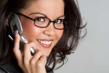Cell Phone Woman Stock Photo - 6901836