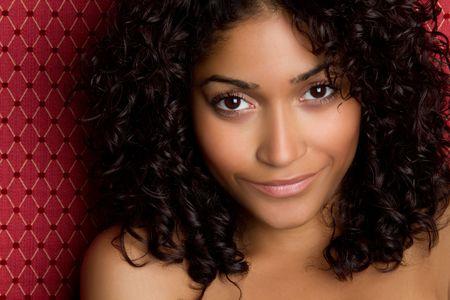 Beautiful Black Woman Closeup