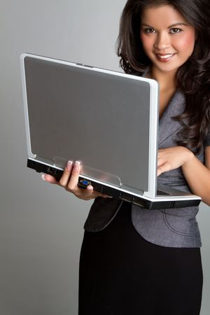 filipino ethnicity: Laptop Businesswoman LANG_EVOIMAGES