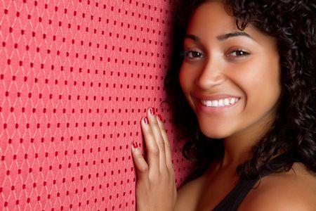 american curl: Smiling Black Woman