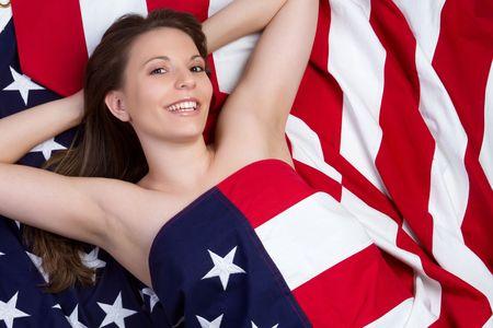 Beautiful American Woman Reklamní fotografie - 6990982