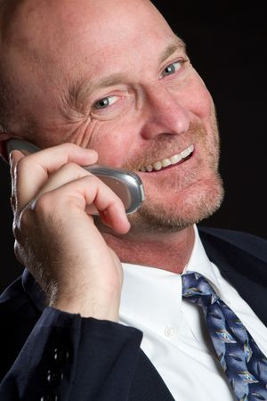Happy Business Phone Man Stock Photo - 9105727