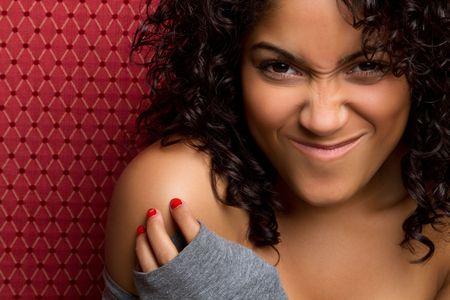 Goofy vrij african american girl  Stockfoto - 6990995