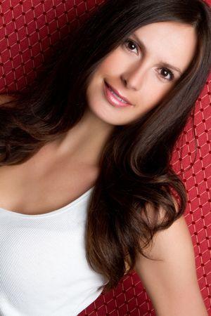 Beautiful smiling young woman photo