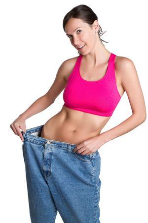 Skinny weight loss woman Stock Photo - 7007431