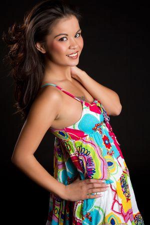 Beautiful smiling happy asian woman Stock Photo - 7007433