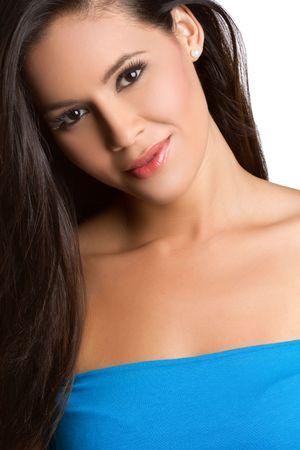 Beautiful smiling young hispanic woman Stock Photo - 7007443