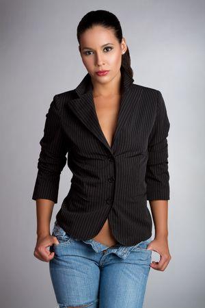 Sexy latina woman wearing jeans Stock Photo - 7018385
