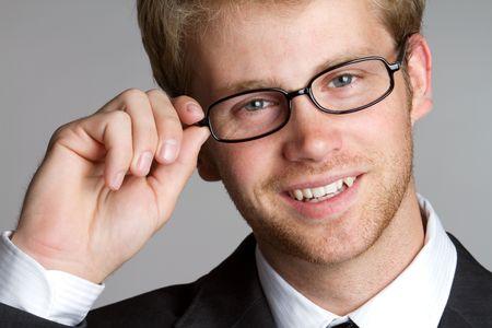 Smiling businessman wearing glasses Stock Photo - 7018394