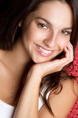 Pretty smiling teen girl closeup Stock Photo - 7040612