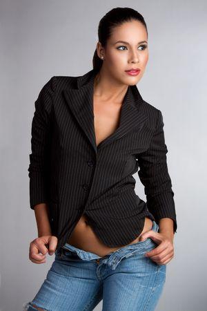 Sexy latina fashion model woman Stock Photo - 7040610