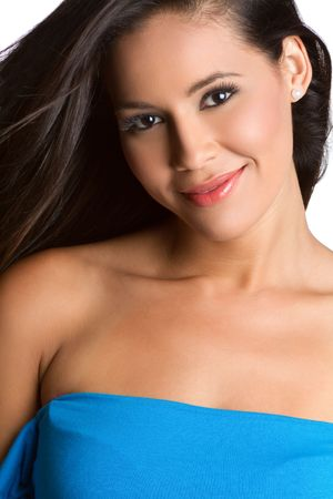 Beautiful smiling young latina woman Stock Photo - 7076947