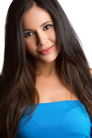 Pretty latina woman smiling Stock Photo - 7076965