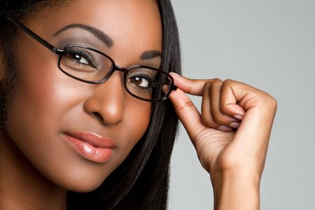 gorgeous businesswoman: Woman wearing glasses LANG_EVOIMAGES