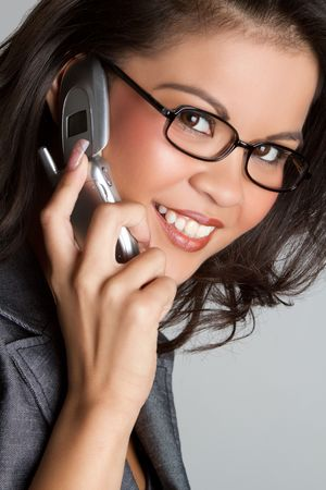 Asian telephone woman talking Stock Photo - 7115362