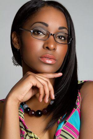 Woman wearing glasses Standard-Bild