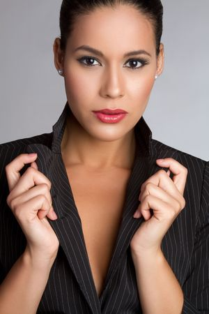 blazer: Beautiful latina fashion woman posing