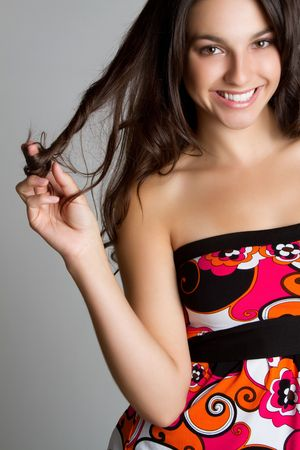 Pretty smiling happy teen girl Stock Photo - 7115383
