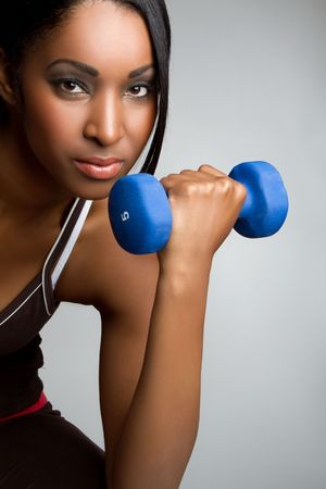 Beautiful african american fitness woman Stock Photo - 7148559