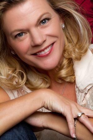 Smiling woman closeup portrait Stock Photo - 7148561