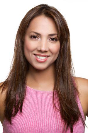 Pretty smiling latina woman portrait Standard-Bild