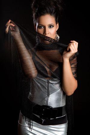 Beautiful latina fashion model woman Stock Photo - 7148567