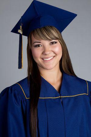 Beautiful smiling high school graduate photo