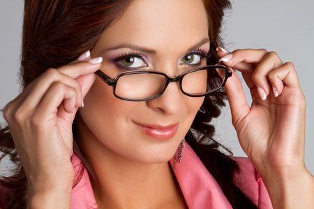 Beautiful latino woman wearing glasses Stock Photo - 7172724