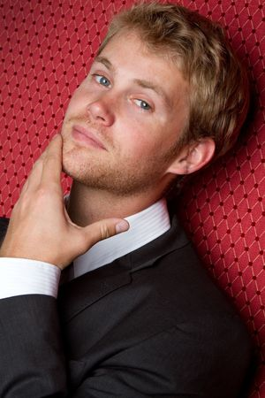 Thinking Man in Suit Stock Photo - 7172739