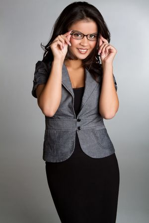 asian sexy girl: Businesswoman wearing glasses