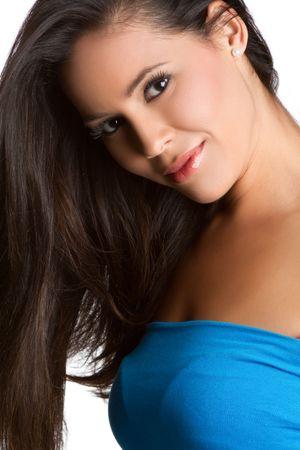 Beautful smiling latin woman portrait photo