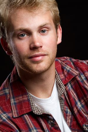 flannel: Handsome young man portrait LANG_EVOIMAGES