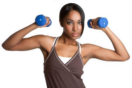 Black woman exercising photo