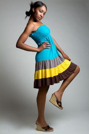 Black fashion woman photo