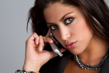 telephones: Cell phone woman