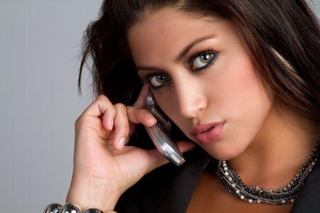 Femme de téléphone cellulaire  Banque d'images - 7232777