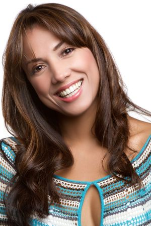 Latin woman headshot Stock Photo - 9073840