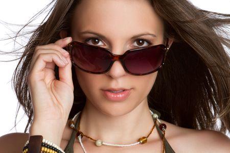 セクシーな女性のサングラス