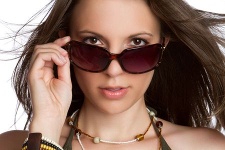 Sexy woman wearing sunglasses Banque d'images