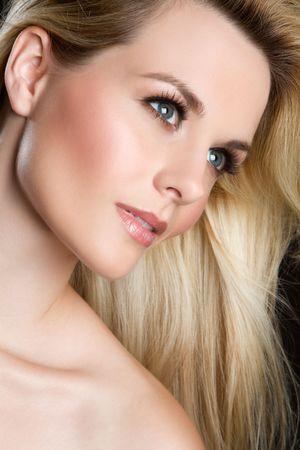 Closeup face of beautiful woman