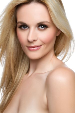 Beautiful smiling blond woman closeup Stock Photo - 7525777