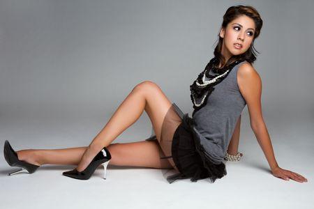 Pretty fashion girl Stock Photo - 7525788