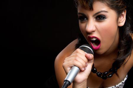 kareoke: Beautiful singing rockstar girl